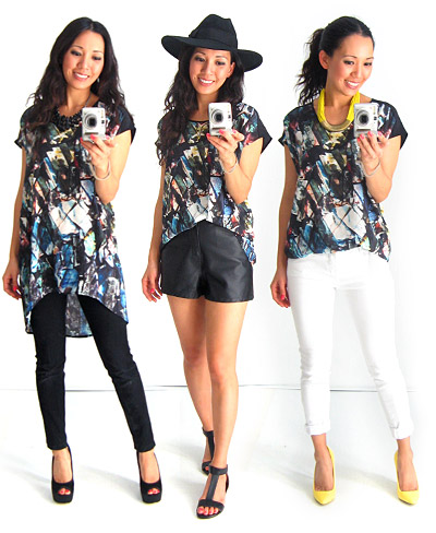 3 Ways to Wear Silk Print Top