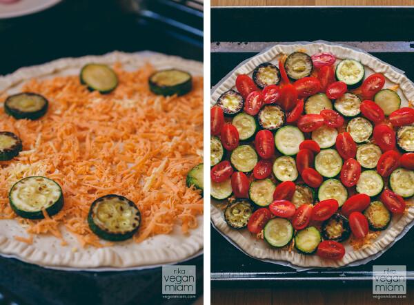 Tomato & Courgette Puff Pastry Pizza
