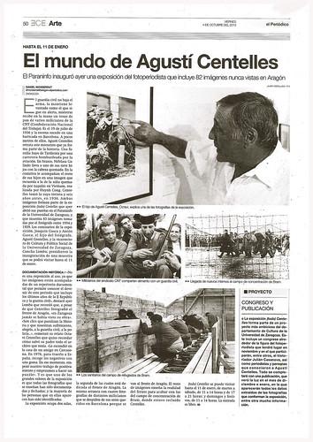 El mundo de Agustí Centelles, El Periódico de Aragón 4 de octubre de 2013. by Octavi Centelles