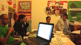 A sinistra, Vito Carrieri segretario Sel poi Gianpiero mancini paolo Mazzone modesto De Girardis