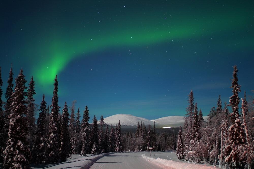 14. Crepúsculo y aurora boreal. Autor, Visit Finland