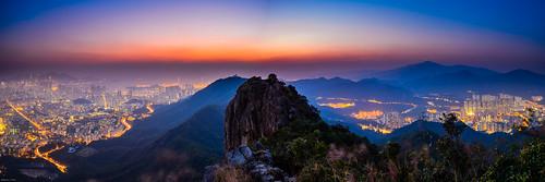 sunset hongkong kowloon 日落 lionrock 獅子山