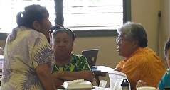 Pahala Constituents talk with Rep. Onishi