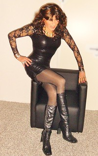 black rubber dress   I
