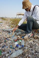 Sabah Al-Ahmad保護區泥灘地堆滿各種海洋廢棄物。