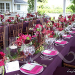 Vineyard wedding pick-nick style tablescape, lush and vibrant
