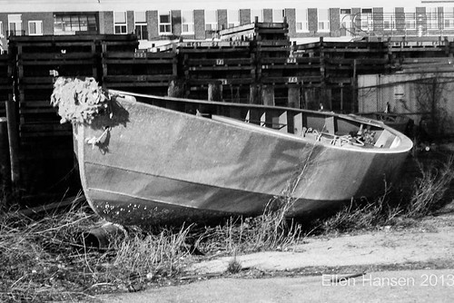 Old boat in the yard, Newport, RI by Genny164