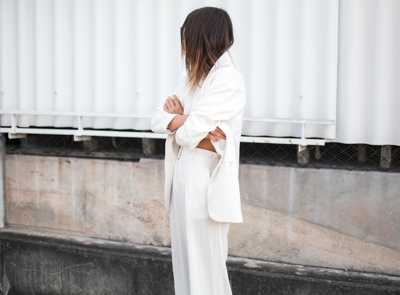modern legacy fashion style blogger australia sass bide wide leg silk pants faddoul label top zara boyfriend blazer white birkenstocks street style alexander wang rafael bag (9 of 11)