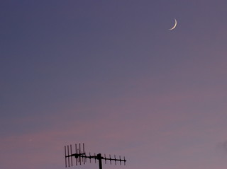 05-12-13 Moon and Venus at Sunset