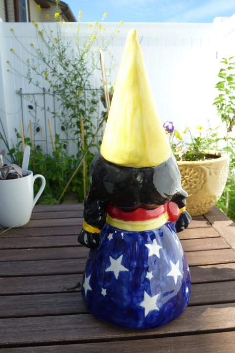 Wonder Woman garden gnome