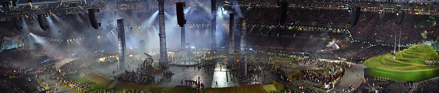 London Opening Ceremony Stadium Panoramic