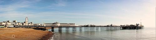 "Brighton's Palace Pier.  4 Shot Hand Held Panorama processed in PTGui.  <a href=""http://hexagoneye.com"" rel=""noreferrer nofollow"">hexagoneye.com</a>"