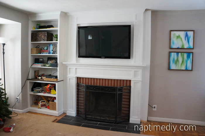 Fireplace Mantel Build 6 (via NaptimeDIY.com)