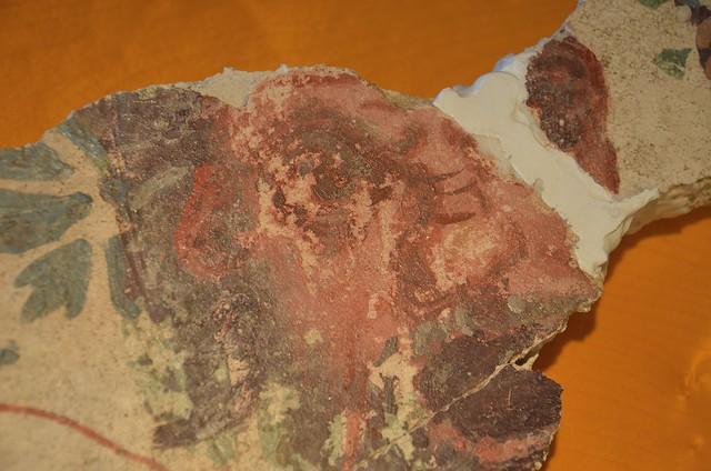 Fresco fragment depicting Dionysus, 1st century AD, Archaeological museum Narona, Vid, Croatia