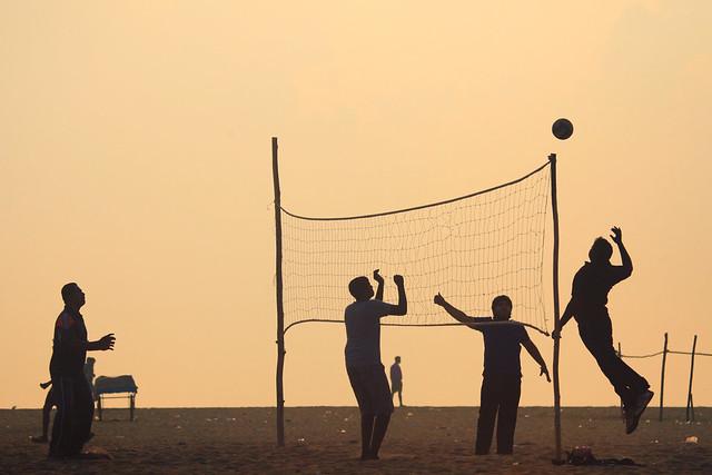 VolleyBall at Marina Beach, Chennai
