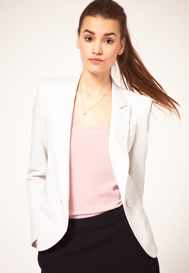 ASOS Tailored Blazer With Power Shoulders