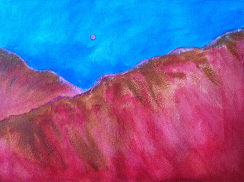 Back to the Mountains (Acrylic Water Media as of Dec. 24, 2013) by randubnick