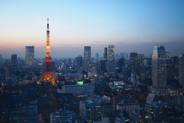 Blue Hour over Tokyo