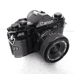 My new toy. #Canon #A-1 #35mm #28mm #f2.8 lens. #film #utah #iphone5s