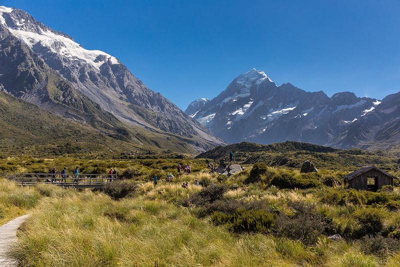 Mount Cook and Stocking Stream Shelter