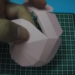 วิธีทำของเล่นโมเดลกระดาษรูปหัวใจ 010