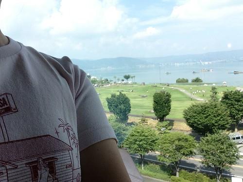 諏訪湖とホームタウン福生にて 陽子さん