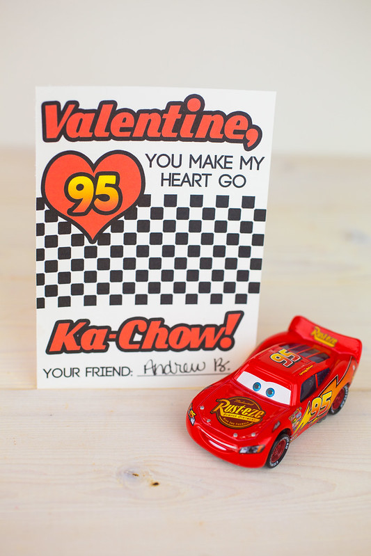 Lightning McQueen Valentines Day Cards