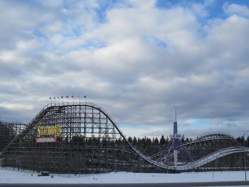 Snowy roller coaster