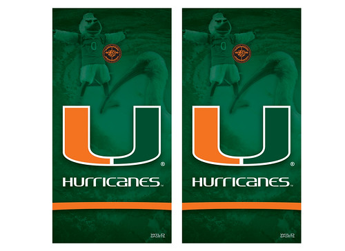 Miami Cornhole Game Decal Set