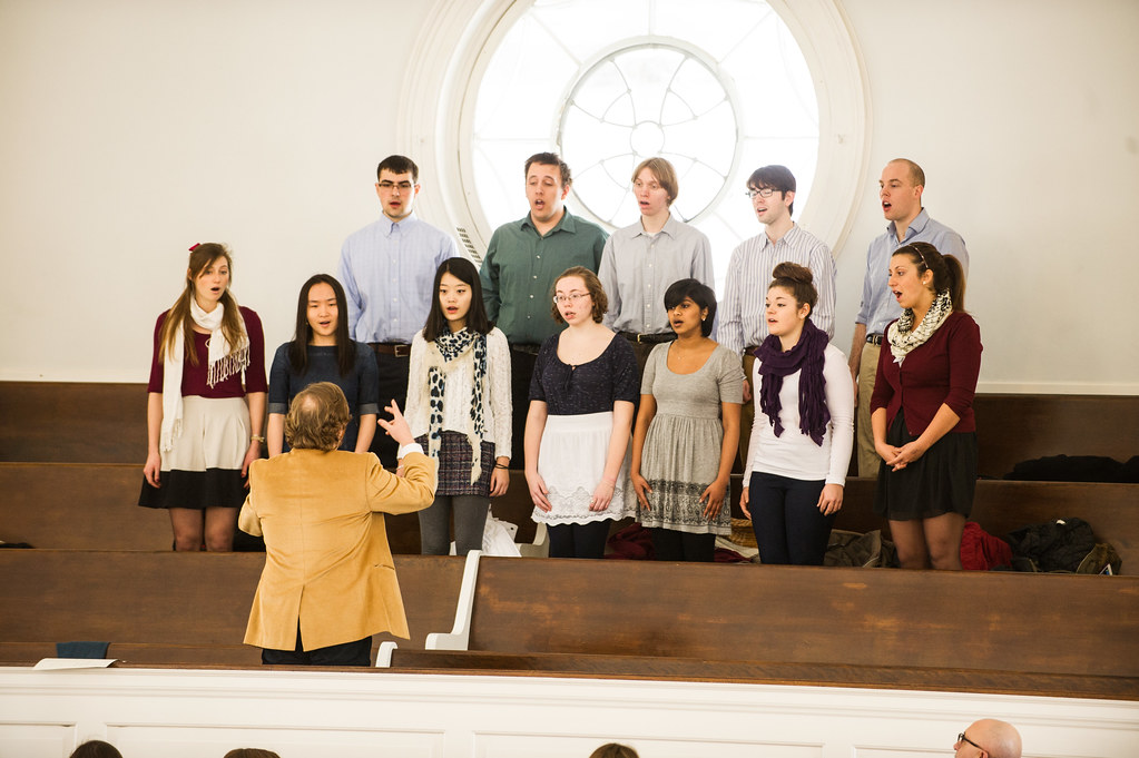 The Camerata Singers perform a selection at Founders Day 2014.
