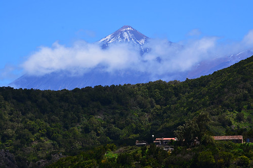 Mount Teide from Teno in March, Tenerife
