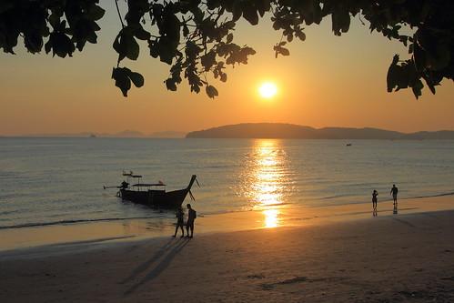 travel sunset beach landscape thailand 旅游 风景 日落 海滩 krabi 泰国 夕阳 沙滩