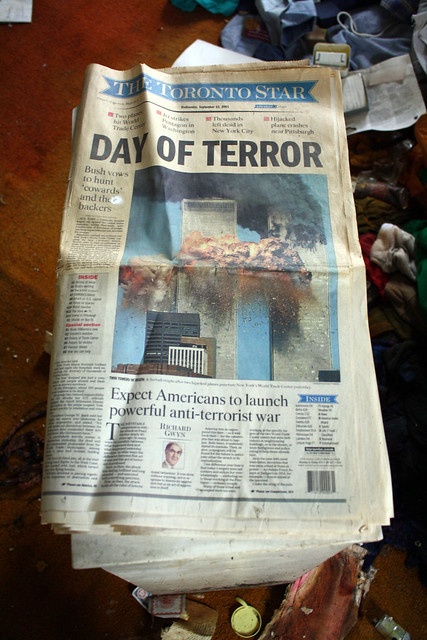THE DAY OF TERROR (The Toronto Star: Sempember 12th, 2001)