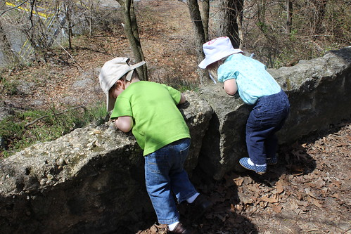 Friends of the Occoquan River Cleanup - Sagan and Adela Look Off Wall