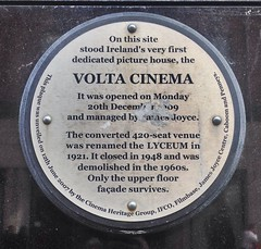 Photo of James Joyce and Volta Cinematograph blue plaque