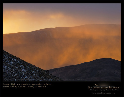 Golden Light in Death Valley