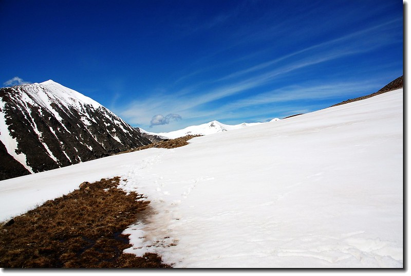 Mount Lincoln stood behind snowfield