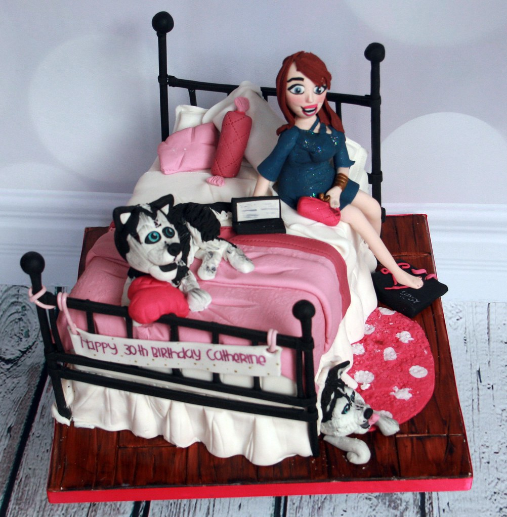 Bed Birthday Cake 30th Cakes Dublin North County Bespoke Baileys Womans Malahide