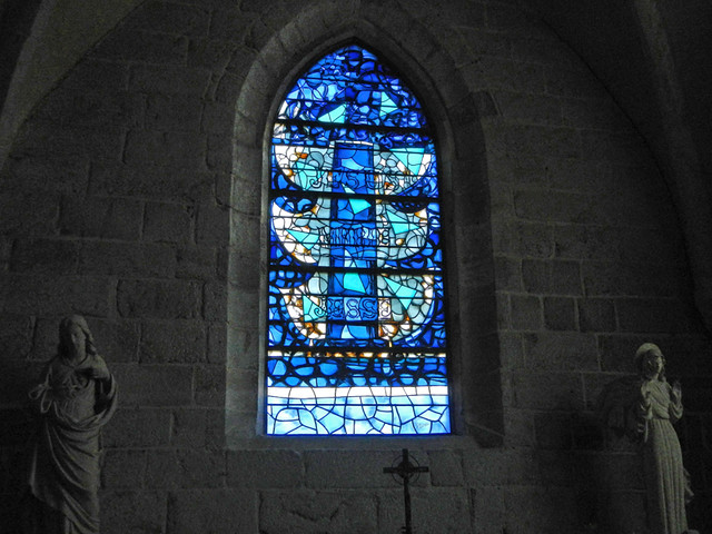 Braque designed the stand glass windows in the church in Varengville, France