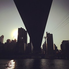 #NewYorkCity #RoosveltIsland #QueensboroBridge #Manhattan #bridge #skyline #backlight