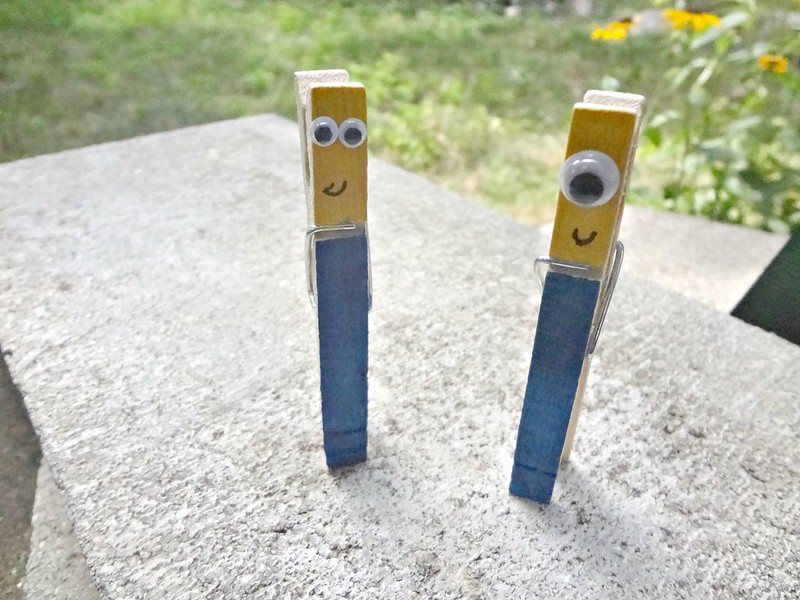 Minion clothespins