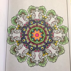 Another page from my coloring book completed.