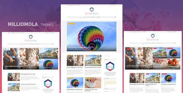 Breaknews WordPress Theme free download