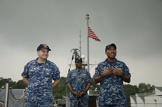 Littoral Combat Ship USS Fort Worth (LCS 3) Change of Command