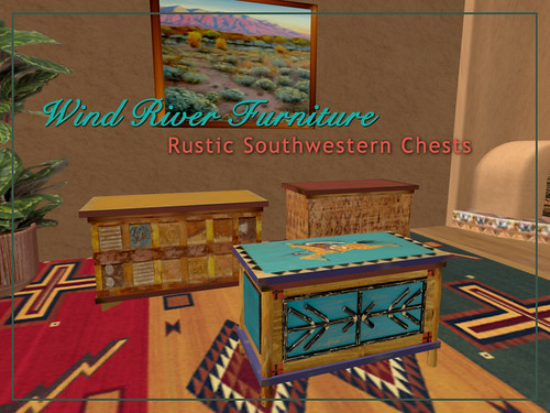 Rustic Southwestern Chests by Teal Freenote