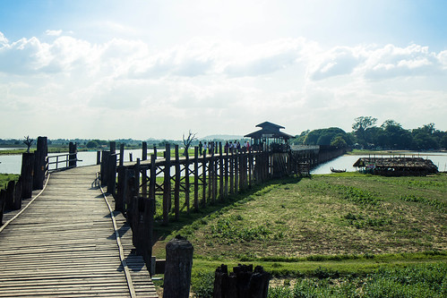 U Bein Bridge in Amarapura - the world's longest teakwood brigde