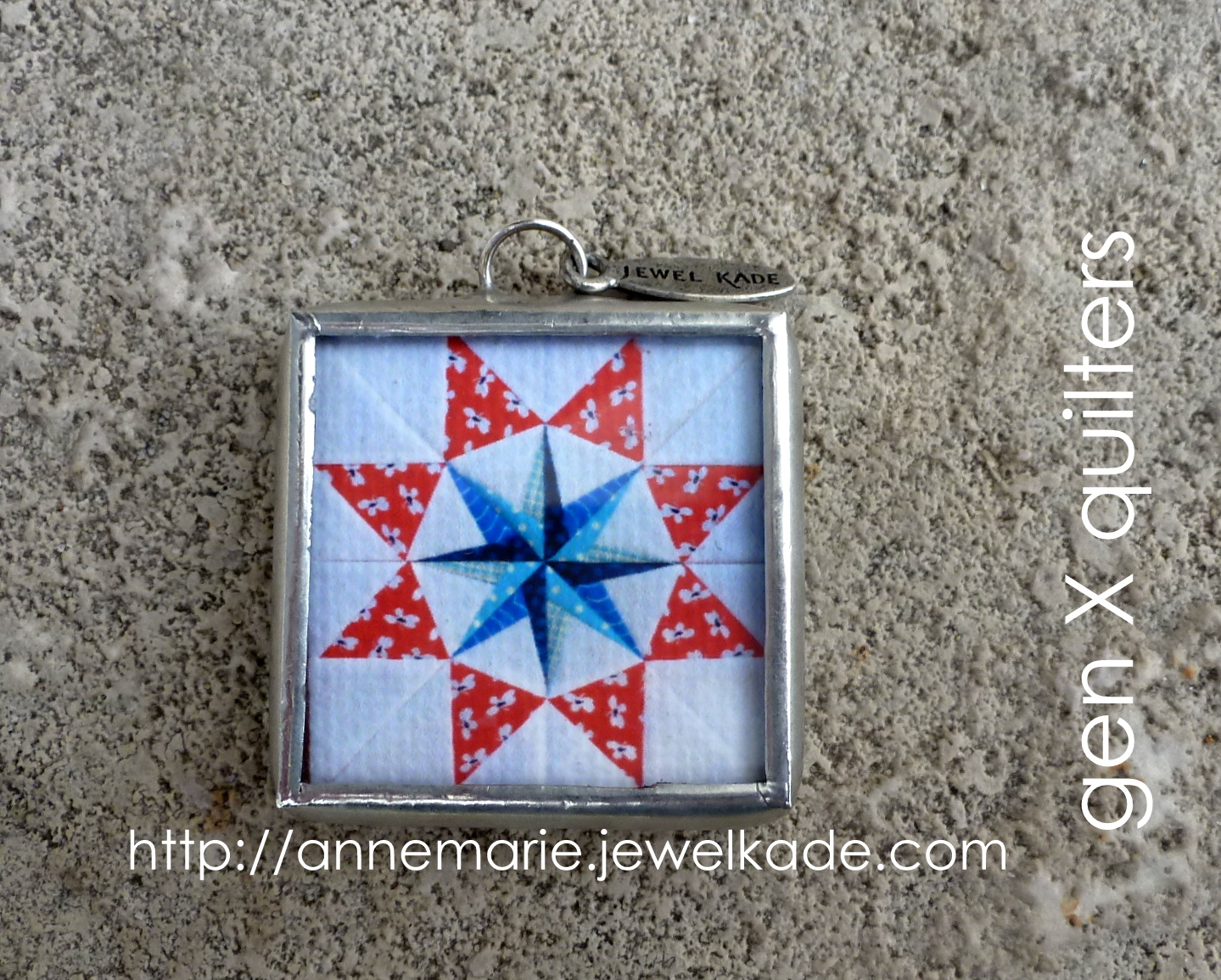 quilt block jewel kade charm front