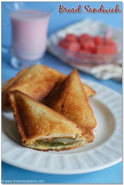 Veg Bread Sandwich Recipe