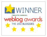 2012 Bloggies - Winner