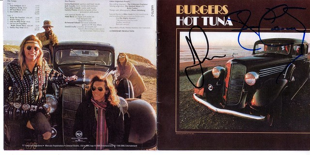 Hot Tuna-folk/blues duo Jorma Kaukonen and Jack Casady both of The Jefferson Airplane